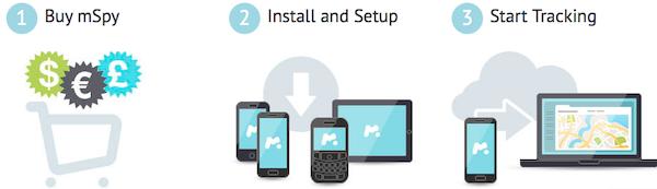 processo di installazione dell'app mSpy